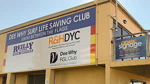 New Sponsor Signage for Dee Why SLSC