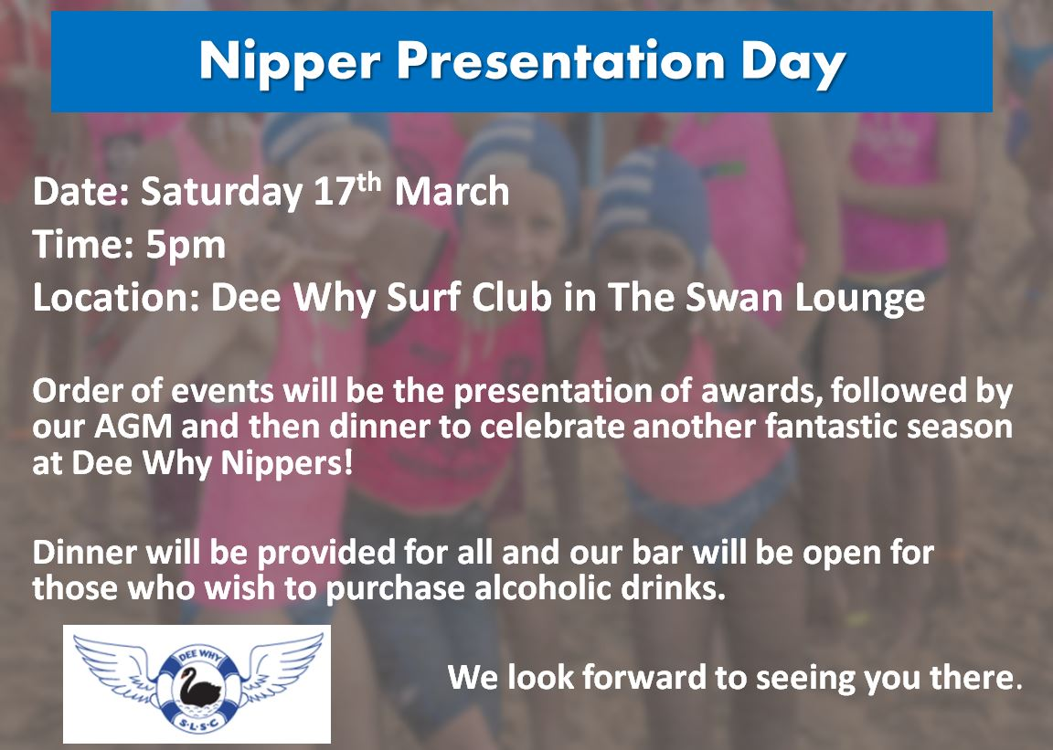 nippers presentation day saturday 17th march 2018 dee why slsc